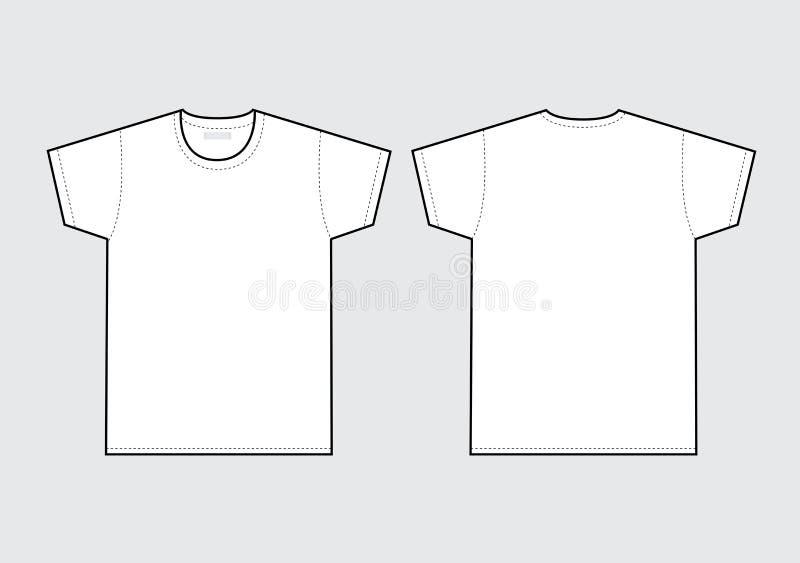 skjorta t vektor illustrationer