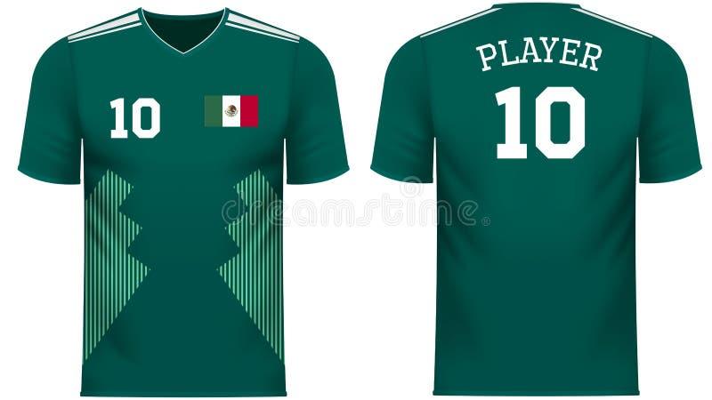 Skjortan för utslagsplatsen för Mexico fansportar i generiskt land färgar royaltyfri illustrationer