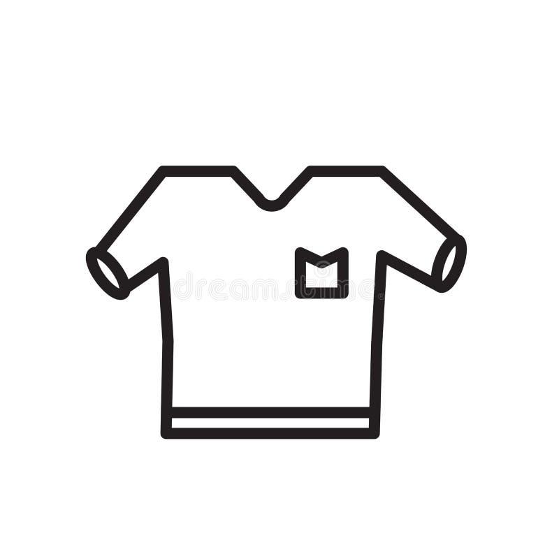 Skjortasymbolsvektor som isoleras på vit bakgrund, skjortatecken, linjärt symbol och slaglängddesignbeståndsdelar i översiktsstil stock illustrationer