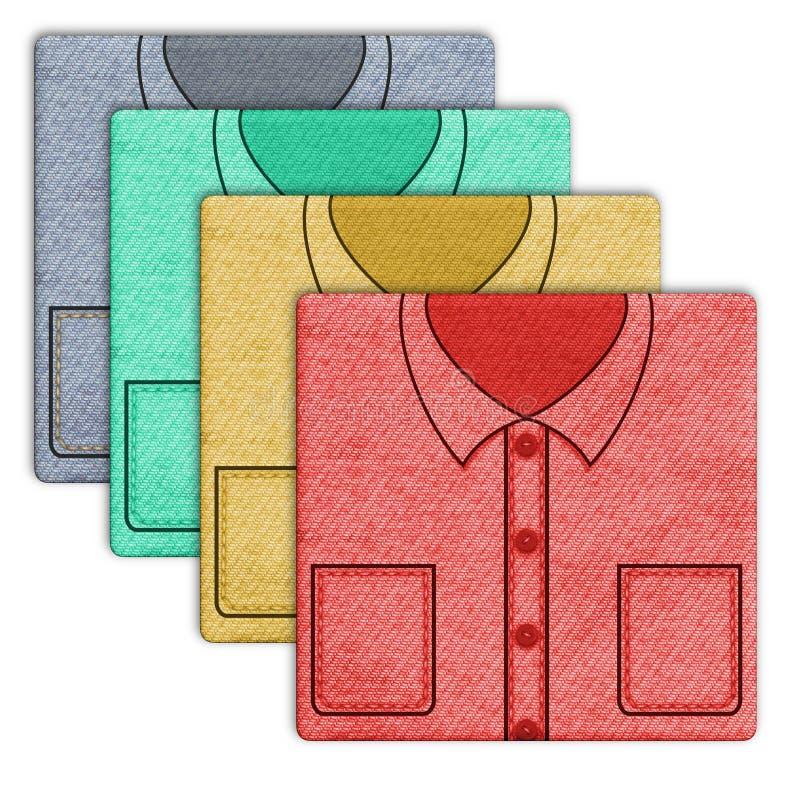 skjortor vektor illustrationer