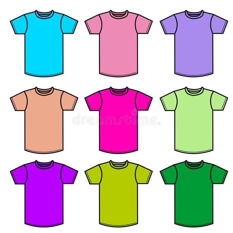 skjortor t royaltyfri illustrationer