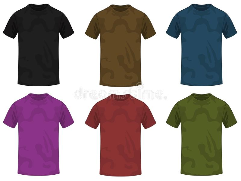 skjortor t vektor illustrationer