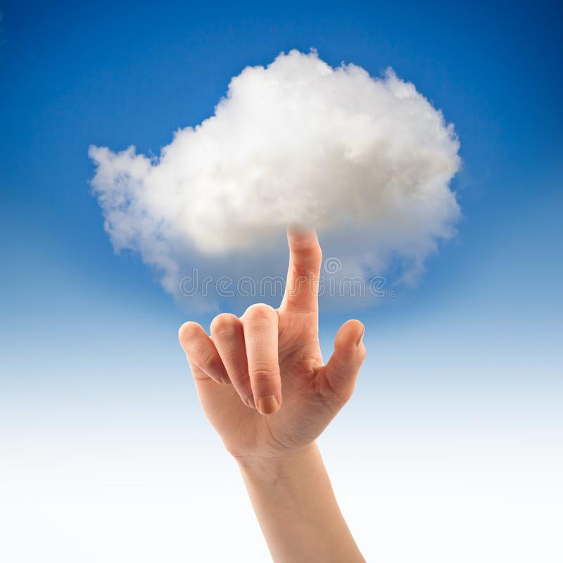 Skjut det faktiska molnet Faktiskt molnbegrepp royaltyfri fotografi