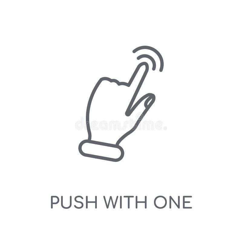 Skjut med ett finger för att glida den linjära symbolen Den moderna översikten skjuter w royaltyfri illustrationer