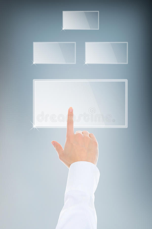 skjuta för knappfingertangentbord royaltyfria bilder