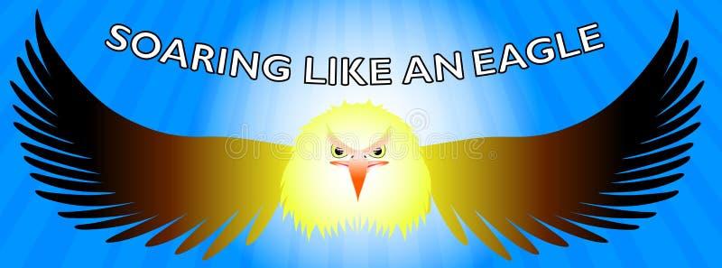 Skjuta i höjden som en Eagle Facebook timeline stock illustrationer