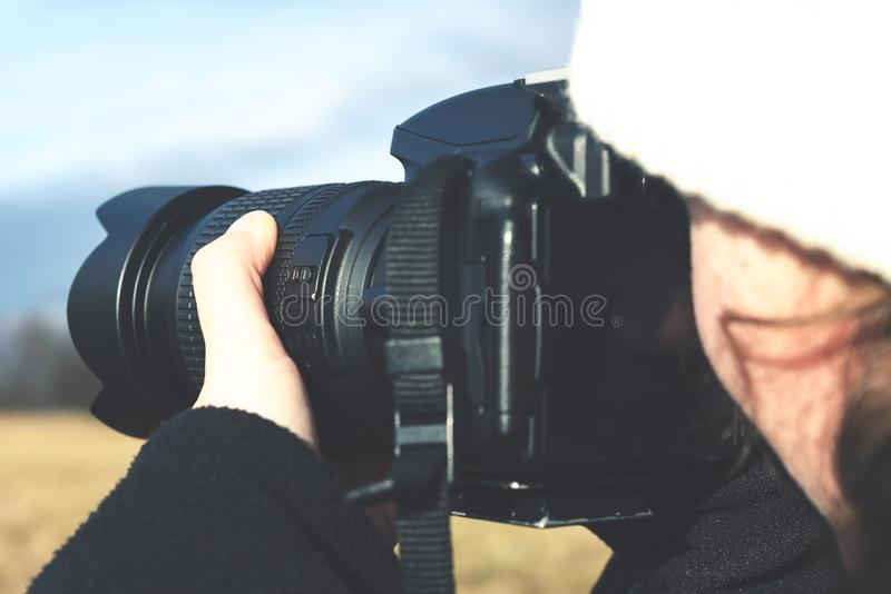 Skjuta utomhus- fotografi royaltyfri bild