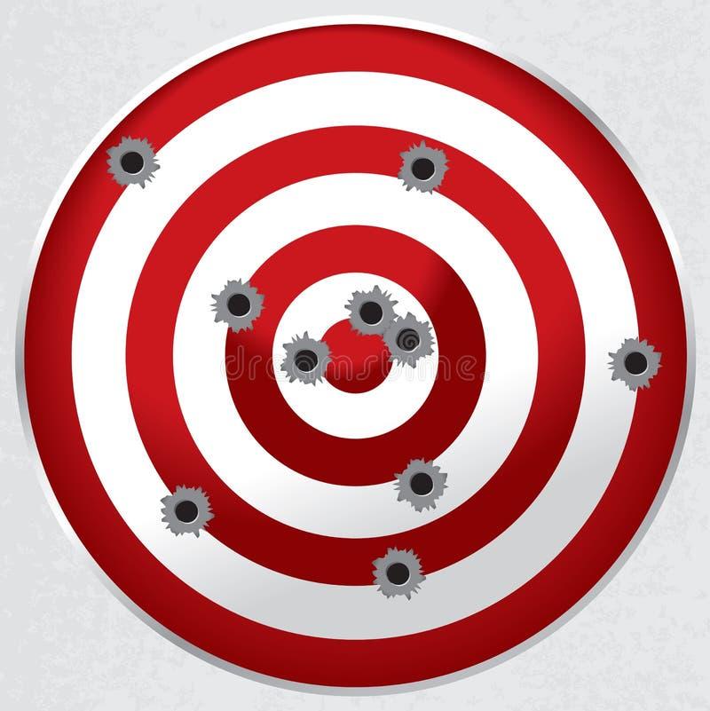 Skjutbanavapnet uppsätta som mål med kulan spela golfboll i hål vektor illustrationer