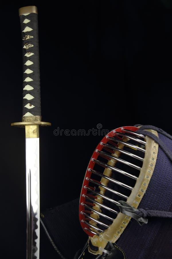 Skjuten Kendo begreppsstudio royaltyfria bilder