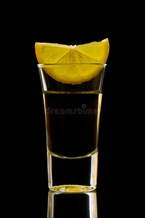 skjuten tequila arkivbild