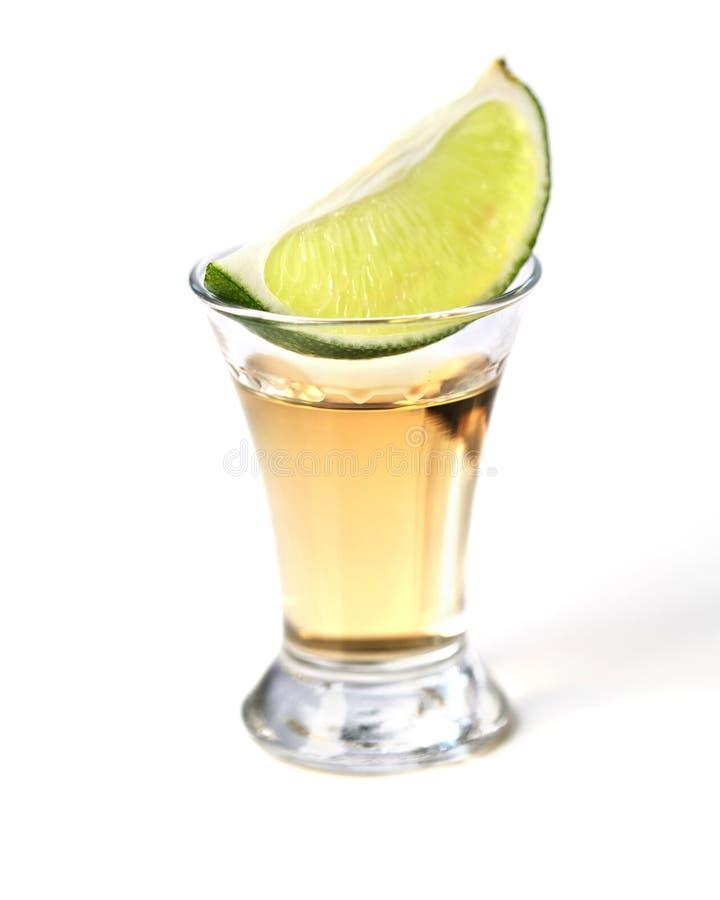 Skjuten Tequila arkivfoto
