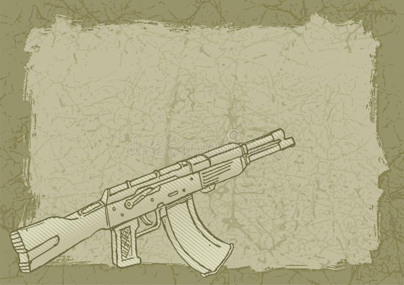 skjutvapengrunge royaltyfri illustrationer