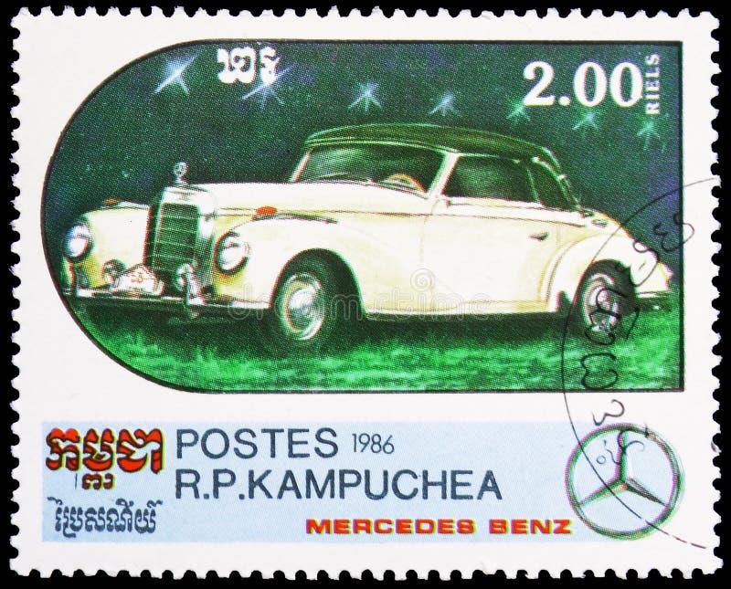 SKK - 1938, Jahrhundert des Bewegungsmotor- Mercedes Benz Models-serie, circa 1986 lizenzfreie stockfotografie