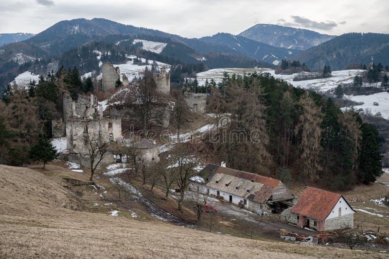 The Sklabina castle, Slovakia royalty free stock photos