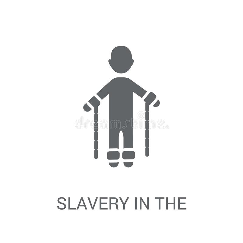 Sklaverei in der Ikone Vereinigter Staaten  vektor abbildung