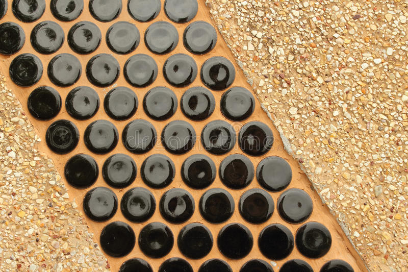 Sklejony żwiru tło Dekorujący z ceramics zdjęcie royalty free