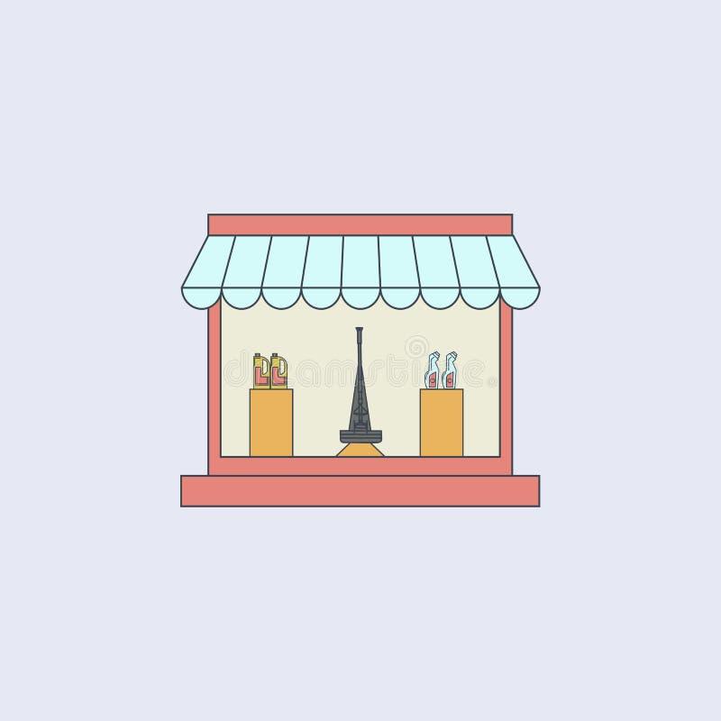 sklep dla czyści produkt barwiącej kontur ikony Jeden inkasowe ikony dla stron internetowych, sieć projekt, wisząca ozdoba app ilustracja wektor