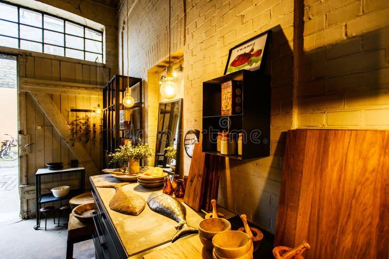 Sklep handmade domowy wystrój przy Freetown Christiania zdjęcia stock