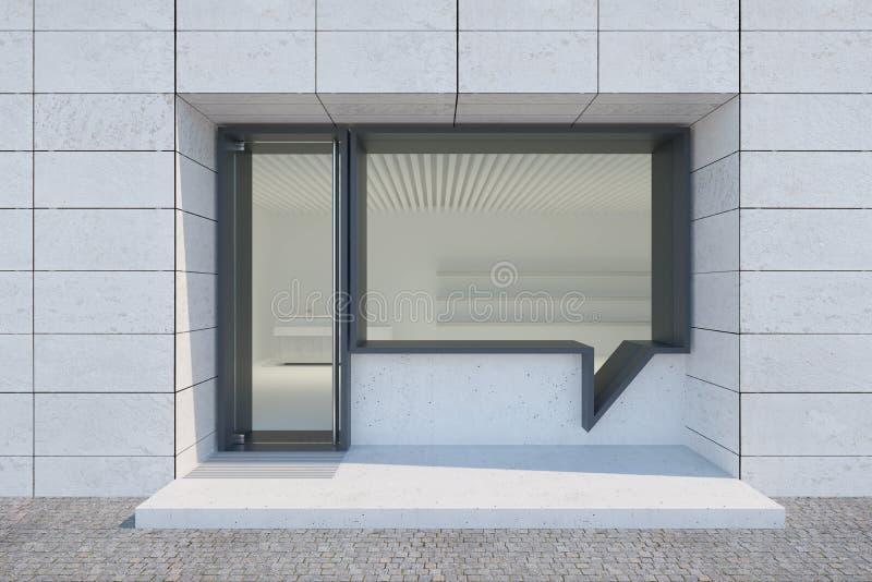 Sklep i wejście Okno ma kształt bąbelkowej rozmowy ilustracji