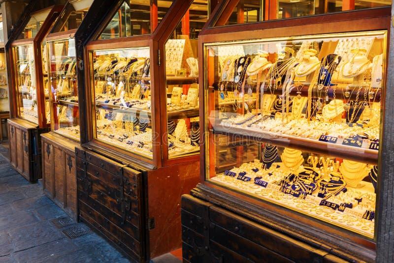 Sklep jubilerski w Florencja, Włochy zdjęcia stock