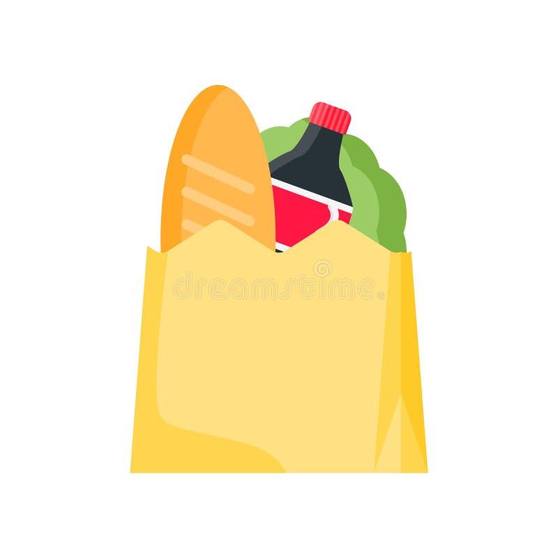 Sklep spożywczy ikony wektoru znak i symbol odizolowywający na białym backgrou ilustracji