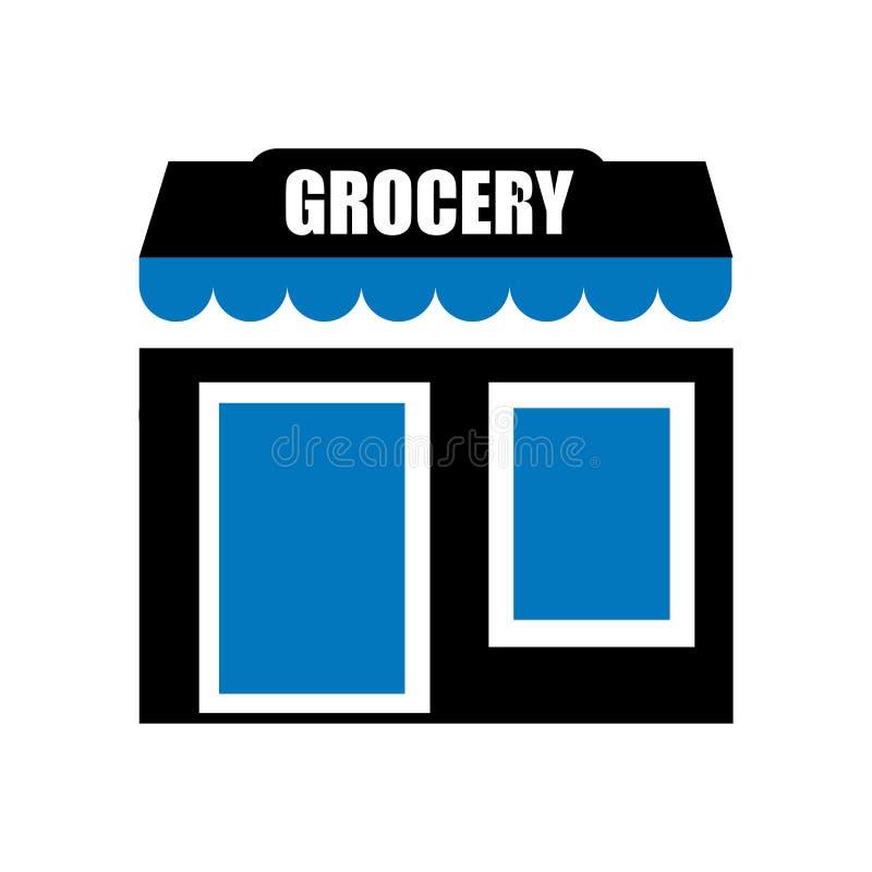 Sklep spożywczy ikony wektoru znak i symbol odizolowywający na białym tle, sklepu spożywczego logo pojęcie ilustracji