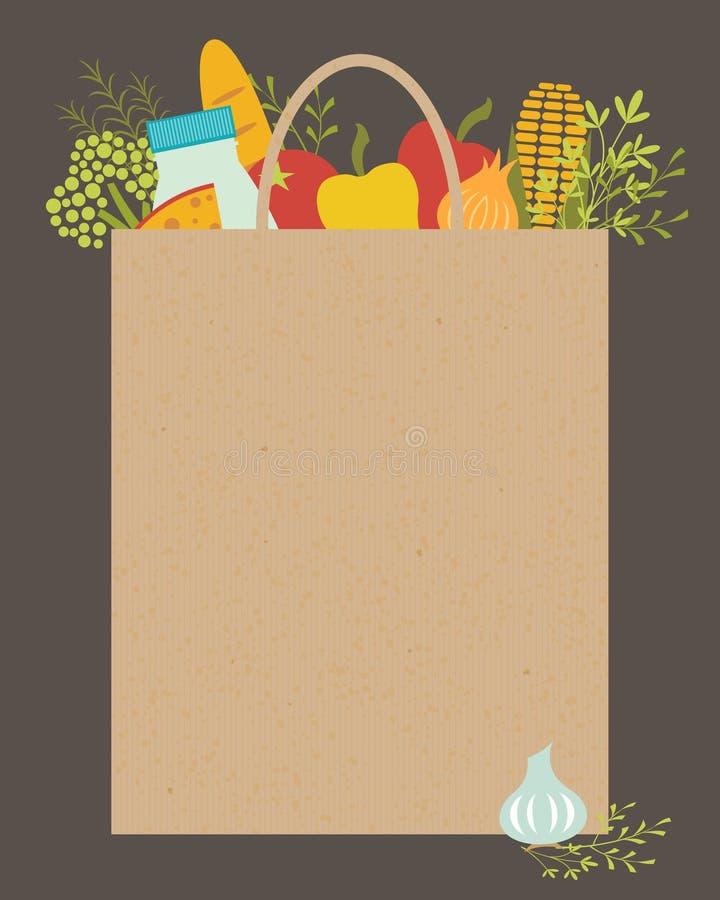 Sklep spożywczy torba ilustracja wektor