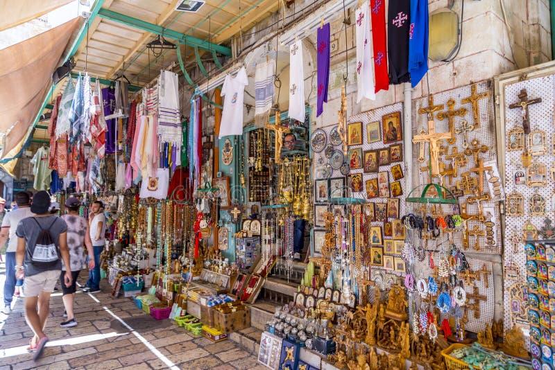 Sklep w starym mieście Jerozolima fotografia royalty free