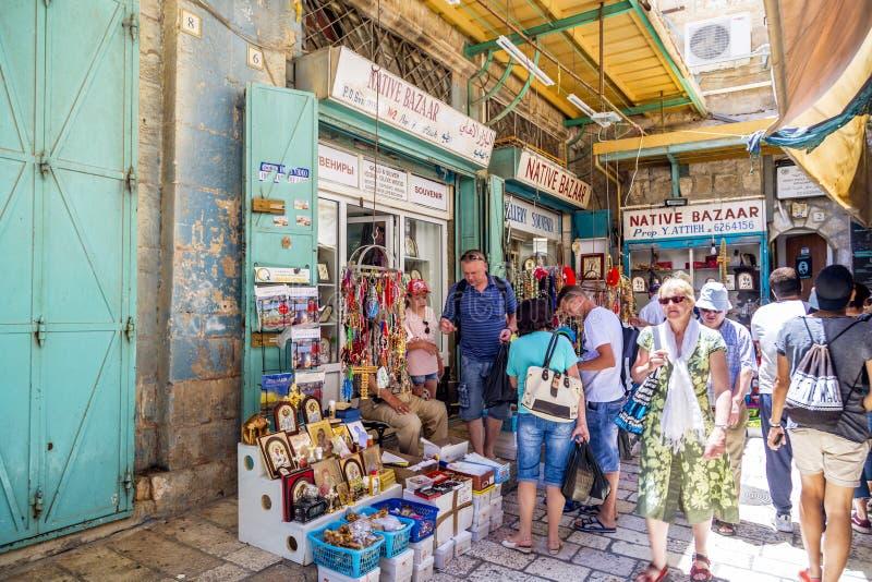 Sklep w starym mieście Jerozolima zdjęcie stock