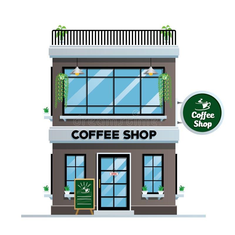 Sklep z kawą budynek ilustracja wektor