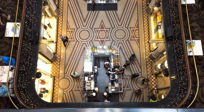 Sklep z kawą od above zdjęcie royalty free