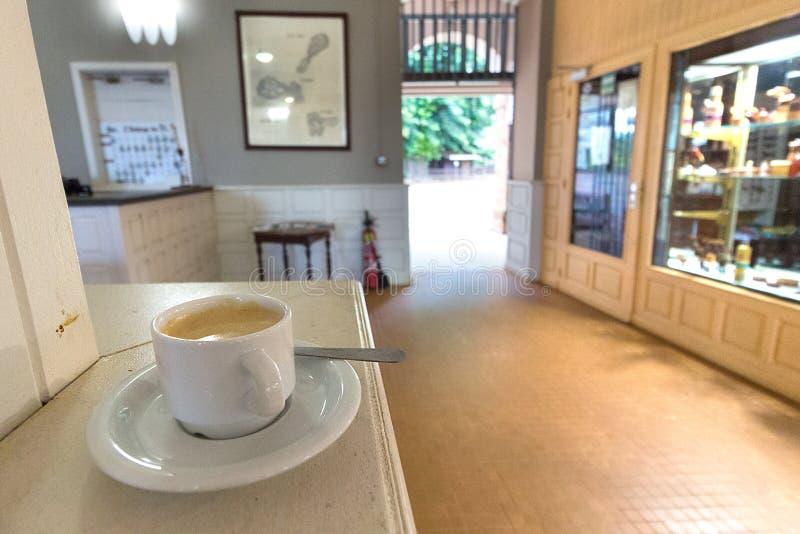 Sklep z kawą przy Ille Royale, salwowanie wyspy obrazy royalty free