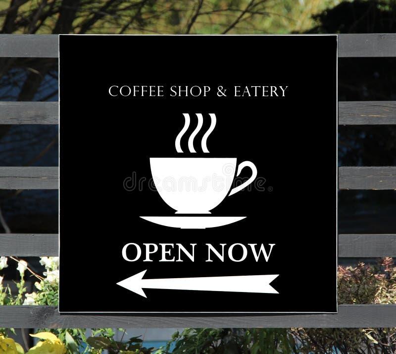 Sklep z kawą znak fotografia stock