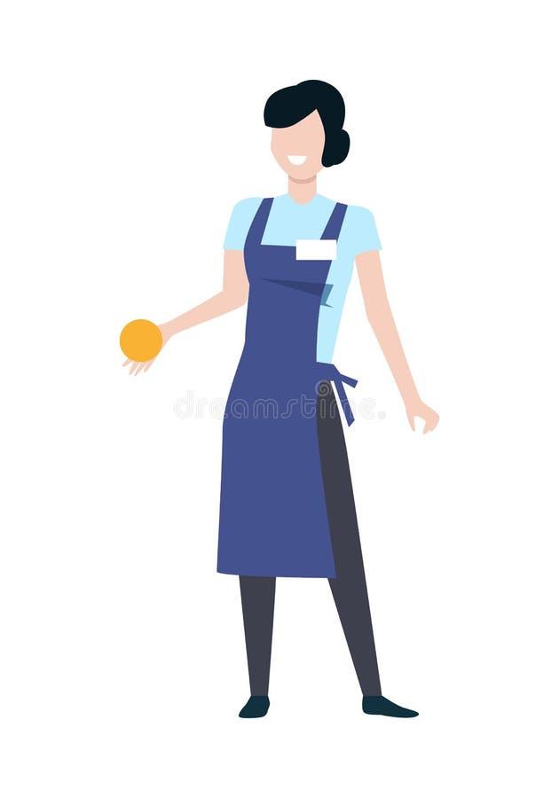 Sklepowego asystenta kobiety charakteru wektoru ilustracja ilustracja wektor