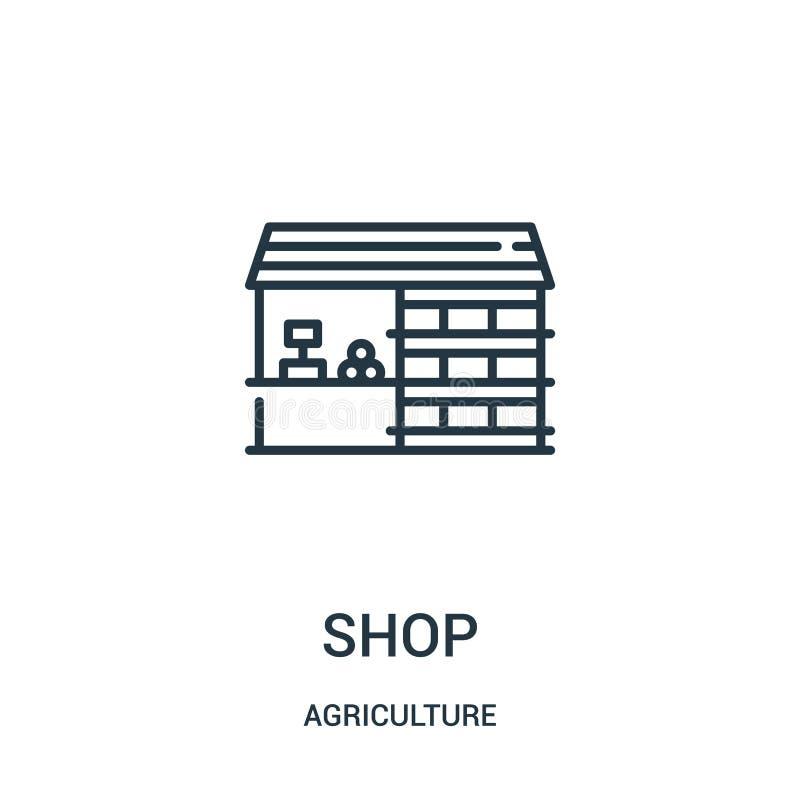 sklepowy ikona wektor od rolnictwo kolekcji Cienka linia sklepu konturu ikony wektoru ilustracja Liniowy symbol dla używa na siec ilustracja wektor