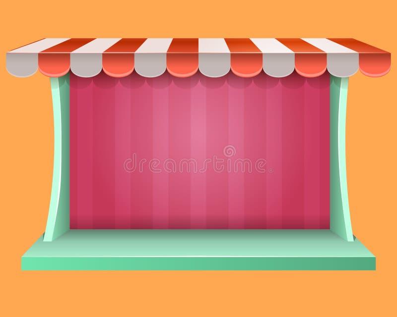 Sklepowy rynek i sklep royalty ilustracja