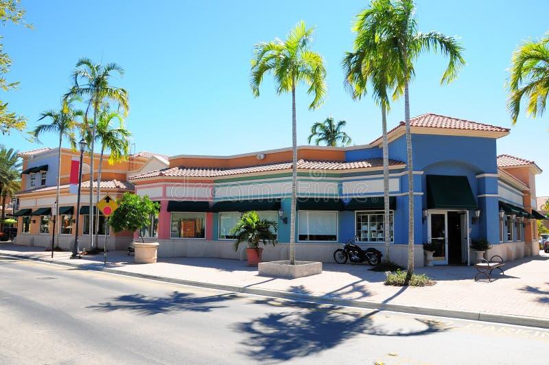Sklepu detalicznego paska frontowy centrum handlowe, Południowy Floryda obrazy royalty free