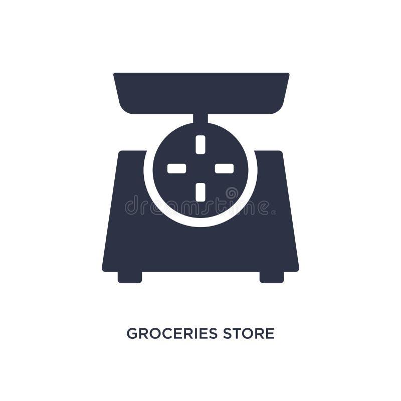 sklepu spożywczego sklepu skali ikona na białym tle Prosta element ilustracja od pomiaru pojęcia ilustracja wektor