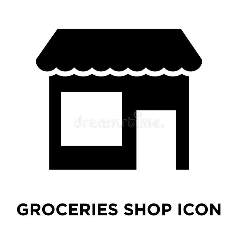 Sklepu spożywczego sklepu ikony wektor odizolowywający na białym tle, logo co ilustracji