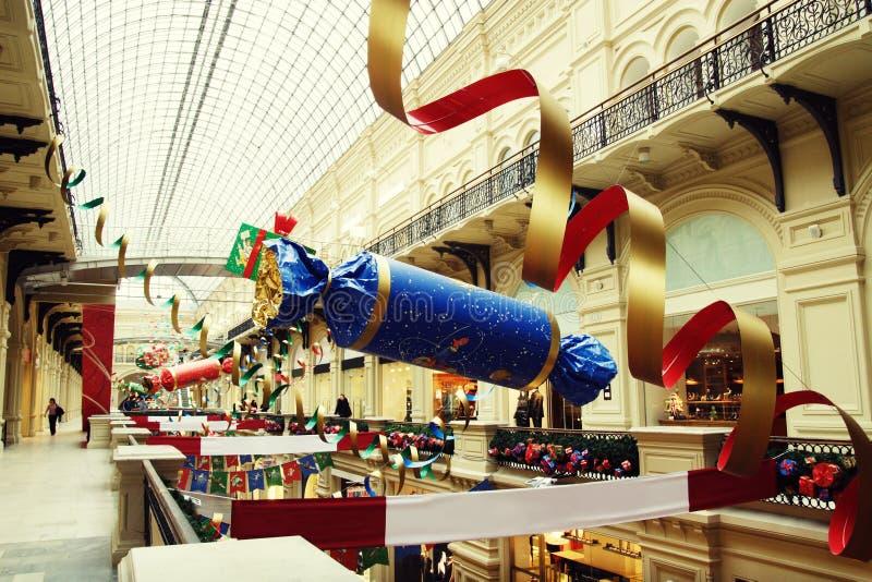 sklepu wewnętrzny nowy rok zdjęcie royalty free