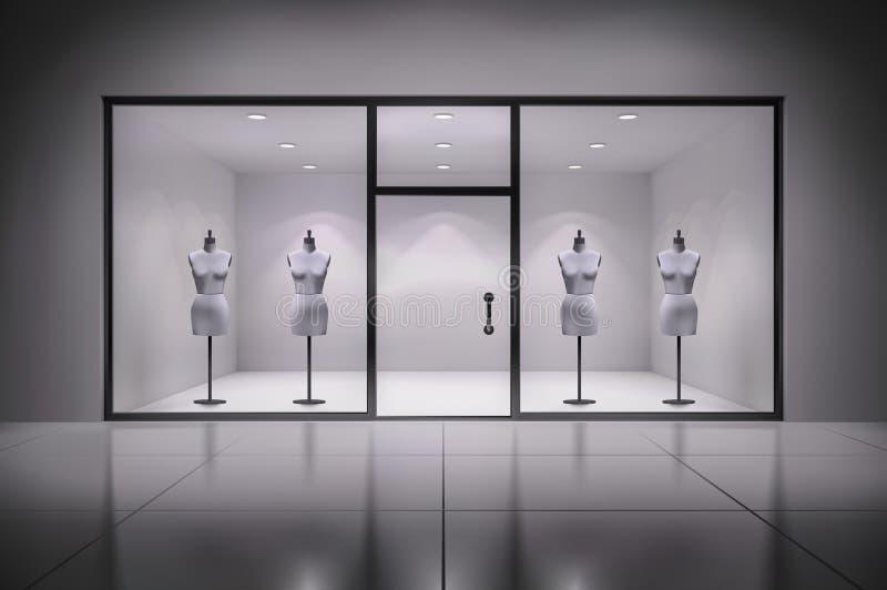 Sklepu wnętrze Z Mannequins royalty ilustracja