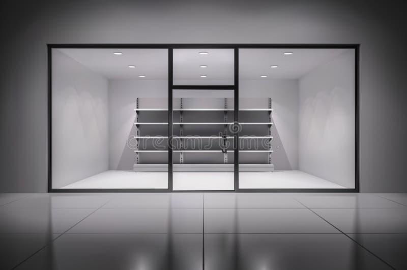 Sklepu wnętrze Z półkami royalty ilustracja