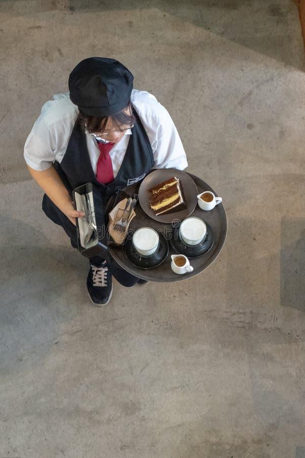 Sklepu z kawą kelner fotografia royalty free