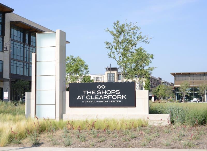 Sklepy przy Clearfork, Fort Worth Teksas obrazy royalty free