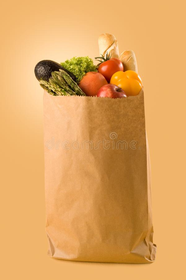 Sklepy spożywczy w torbie obrazy stock