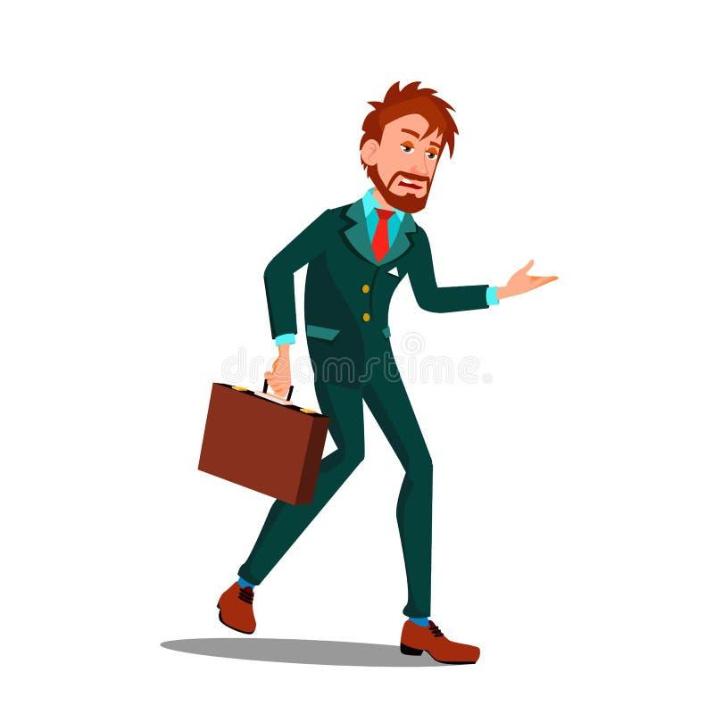 Skołowany charakteru biznesmen Po praca wektoru ilustracji