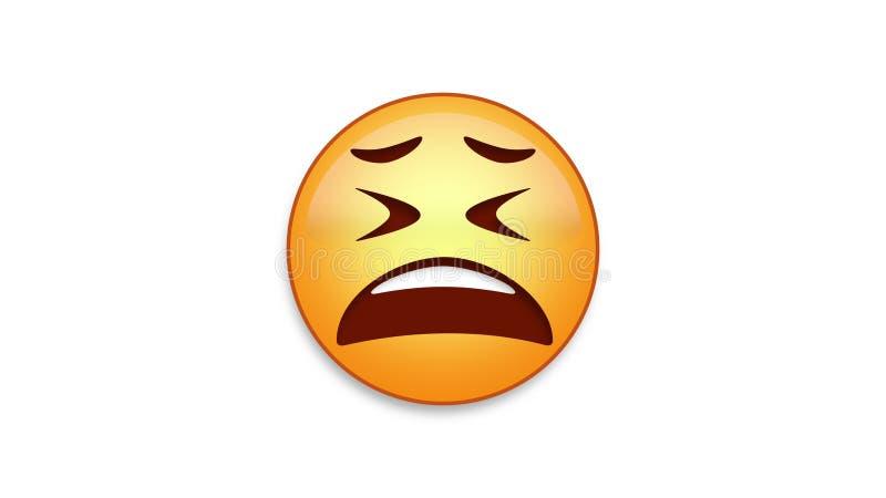Skołowany Emoji z Luma Matte ilustracja wektor
