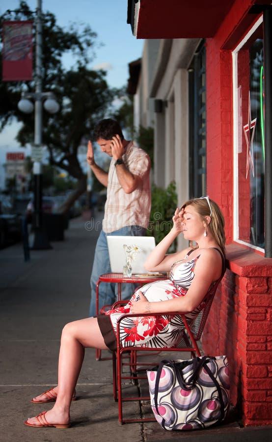 skołowany kobieta w ciąży zdjęcie stock