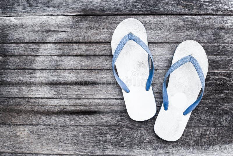 Sko vit sandal fotografering för bildbyråer
