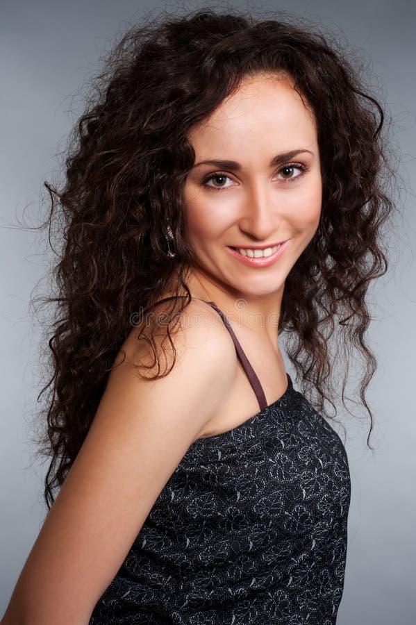 skoczny brunetka portret fotografia stock
